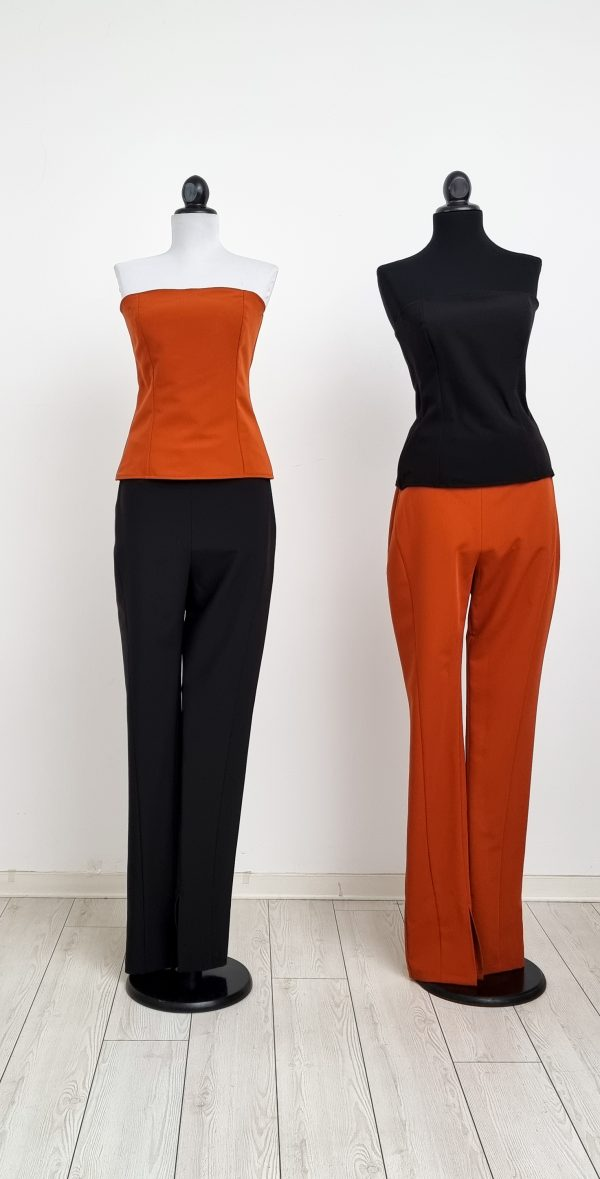 corset top with matching pants